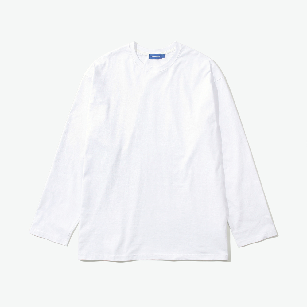 ESS LAYERED L/S TEE WHITE