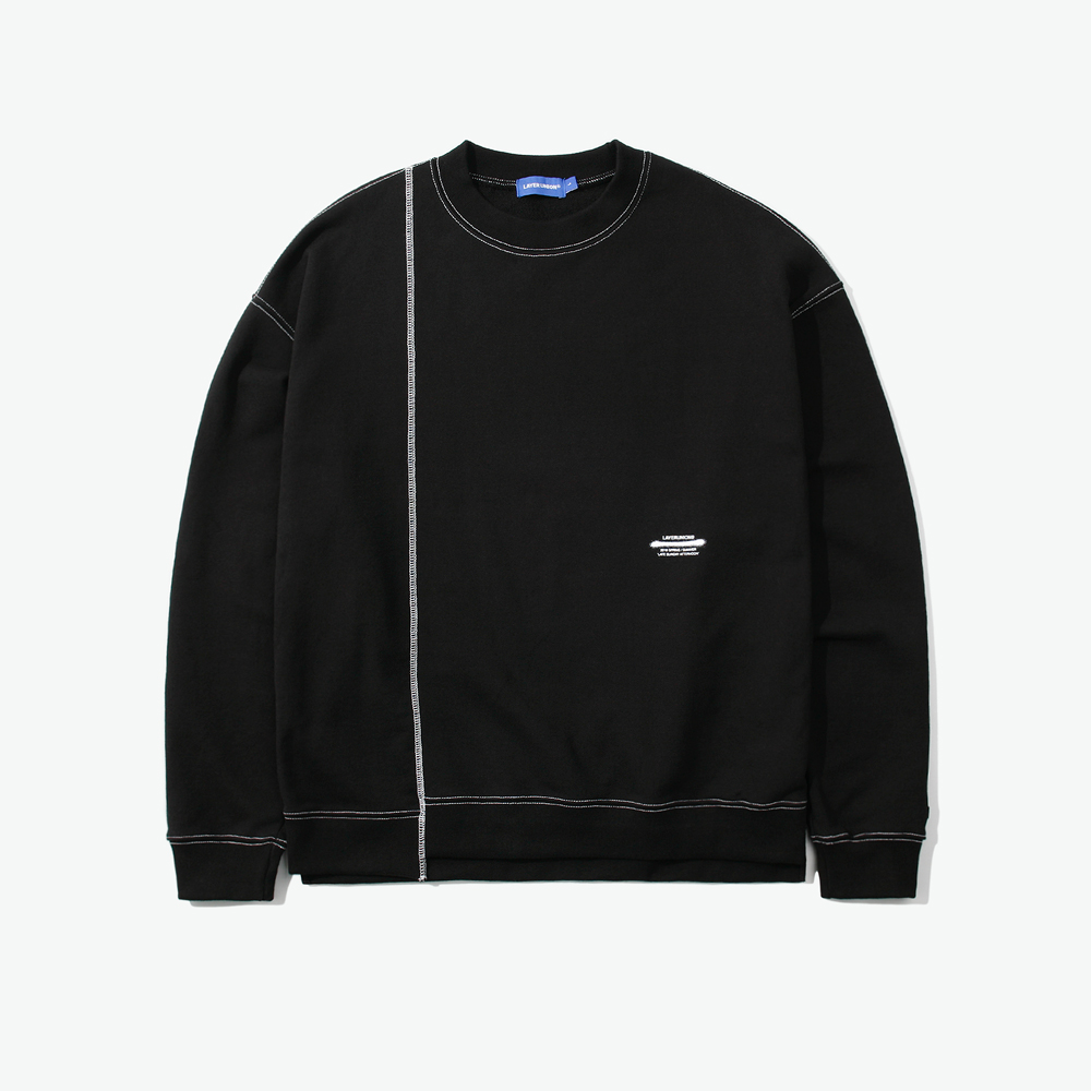 CUT CTRS ST OVER SWEATSHIRT BL