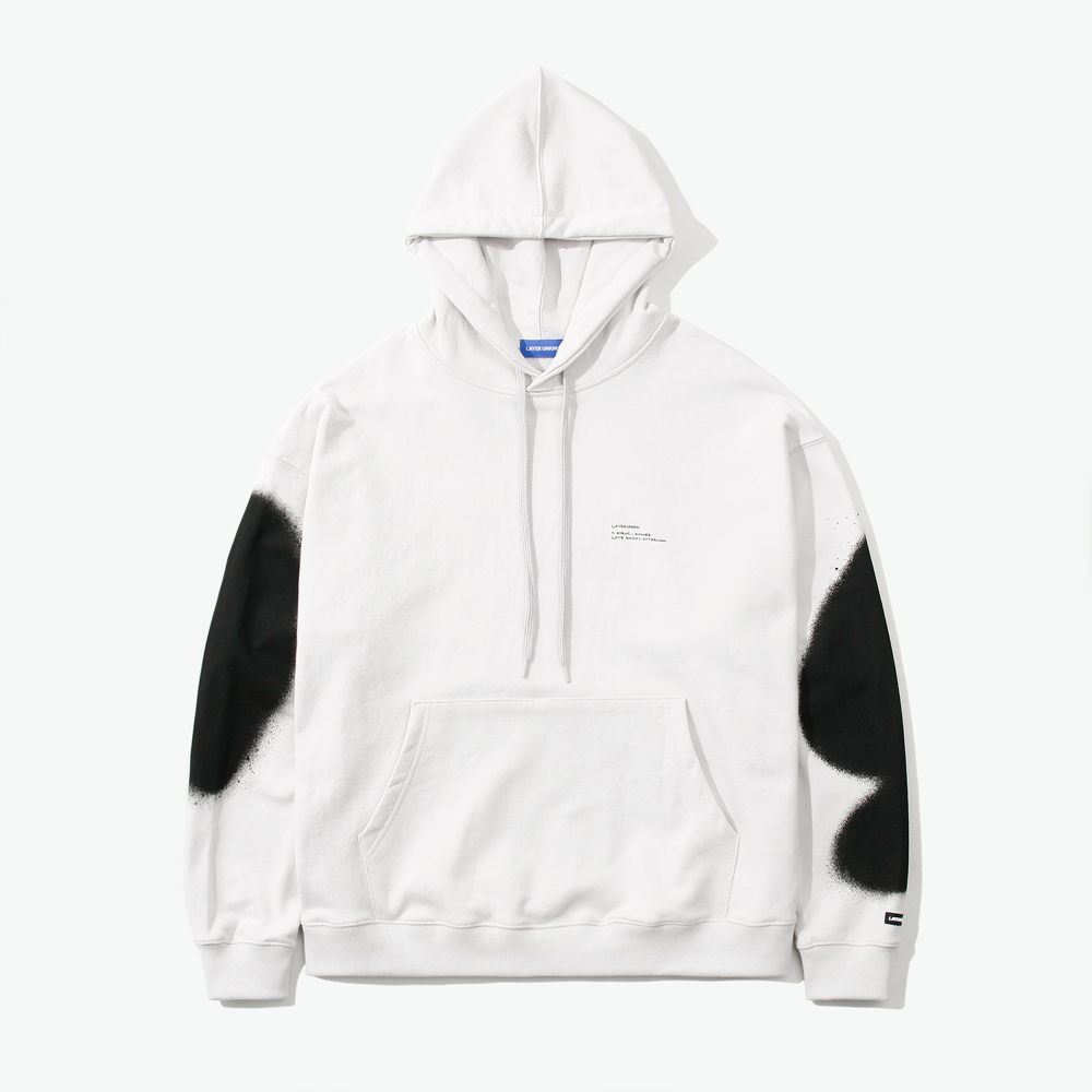 LSA SPRAY OVER HOODIE LIGHT GR