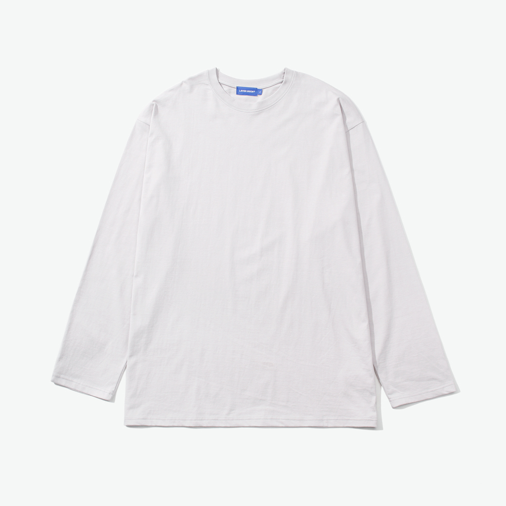 ESS LAYERED L/S TEE LIGHT GREY