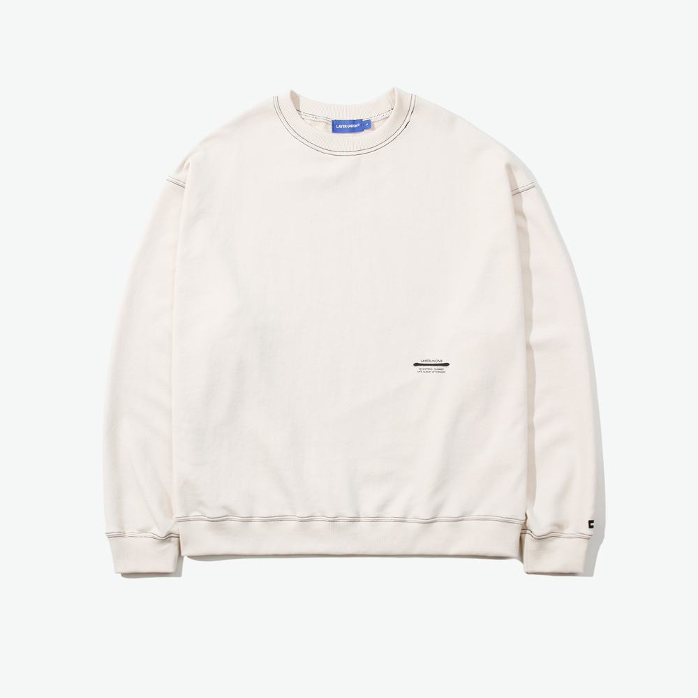 LSA ST OVER SWEATSHIRT IVORY