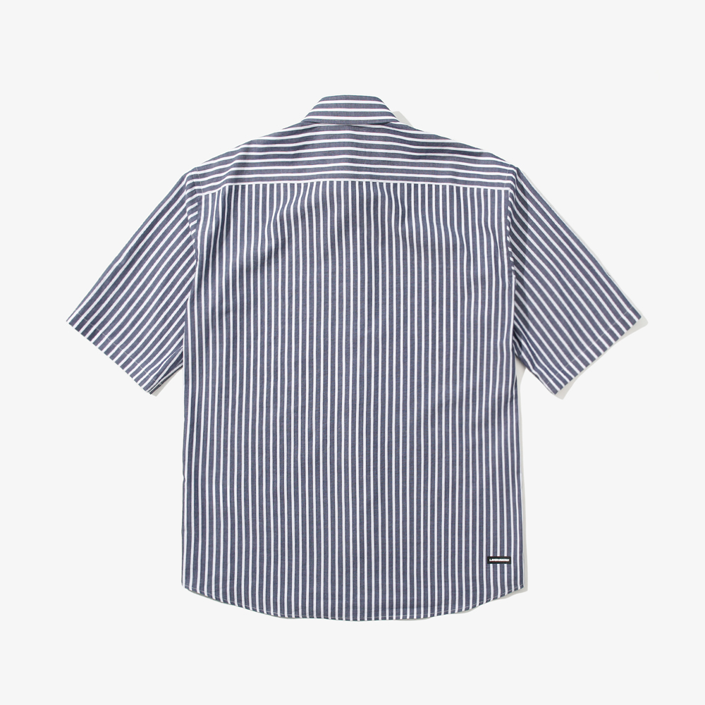 LSA STRIPE S/S SHIRTS NAVY
