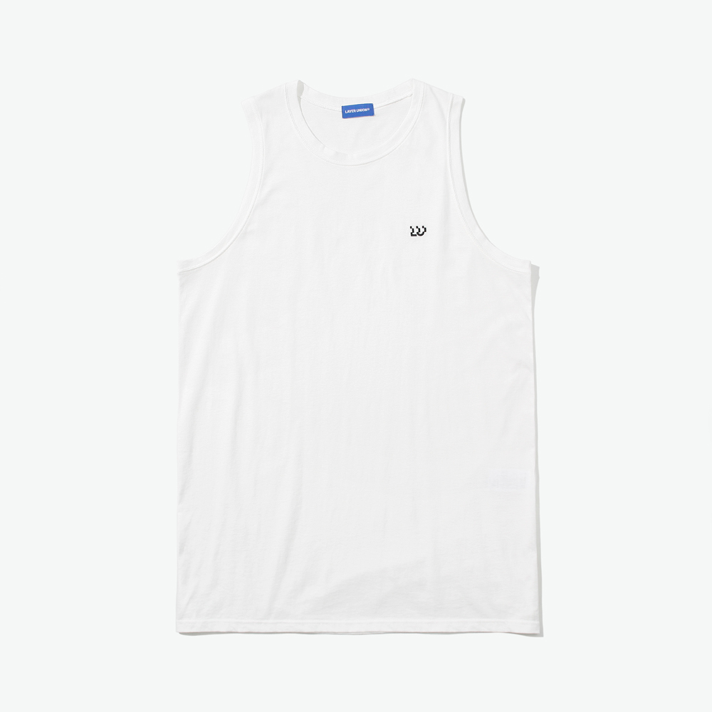 ESS LAYERED SLEEVELESS WHITE