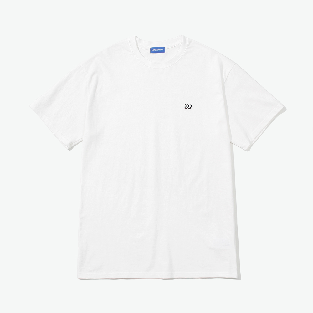 ESS LAYERED S/S TEE WHITE