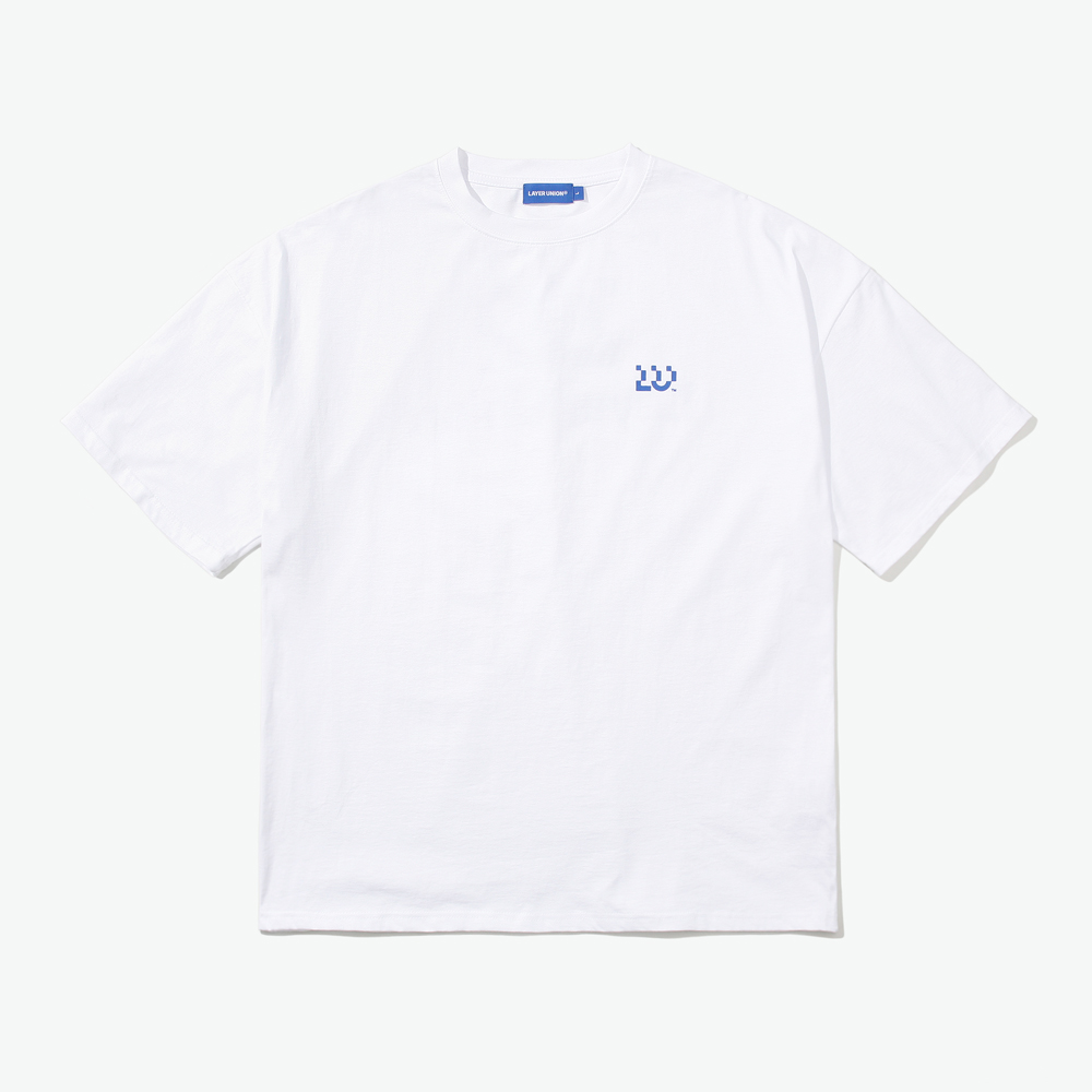 LU LOGO OVER S/S TEE WHITE