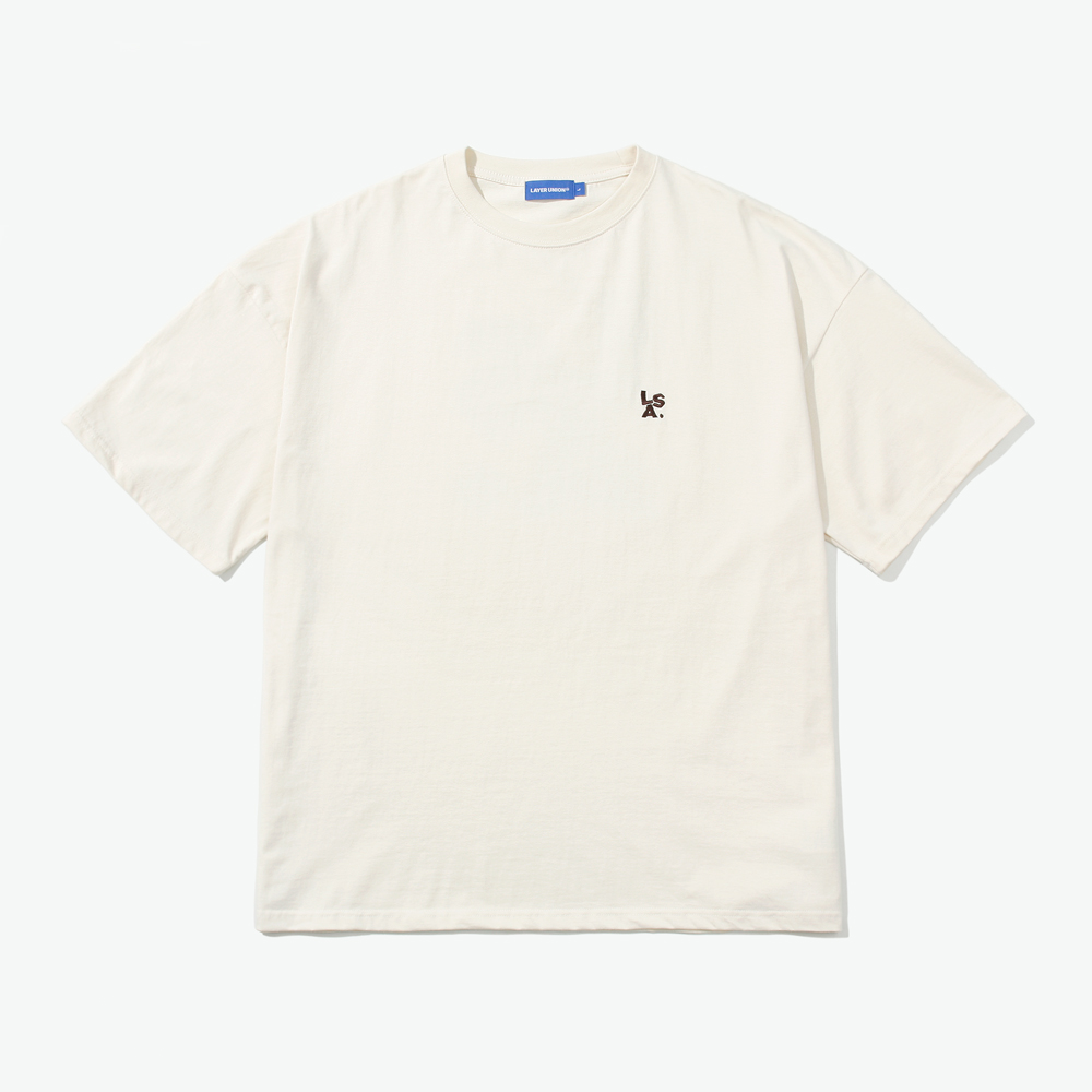 SPRAY LSA OVER S/S TEE BEIGE