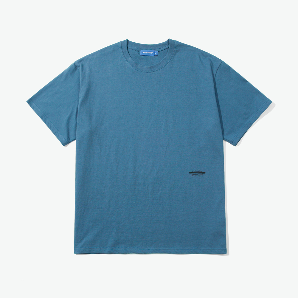 BASIC LSA S/S TEE DARK BLUE