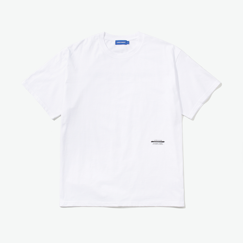 BASIC LSA S/S TEE WHITE
