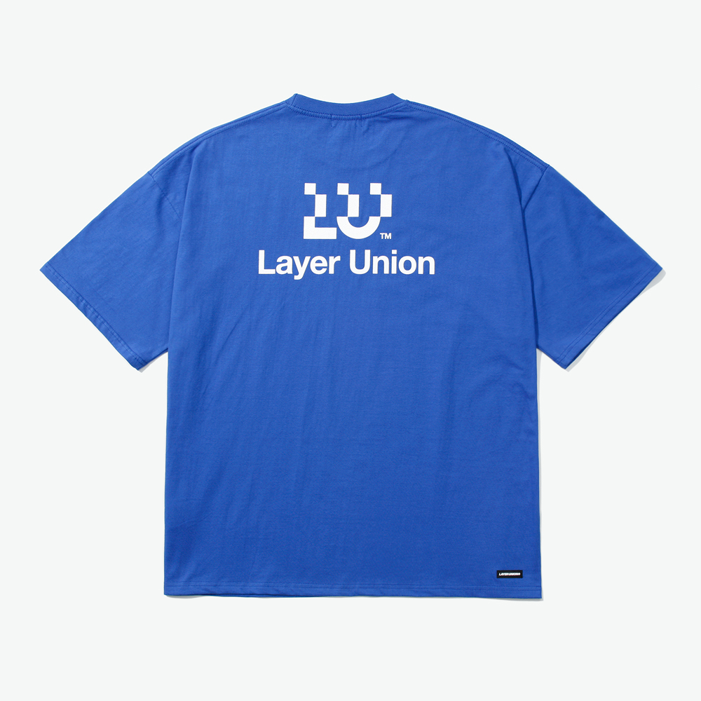 LU LOGO OVER S/S TEE BLUE