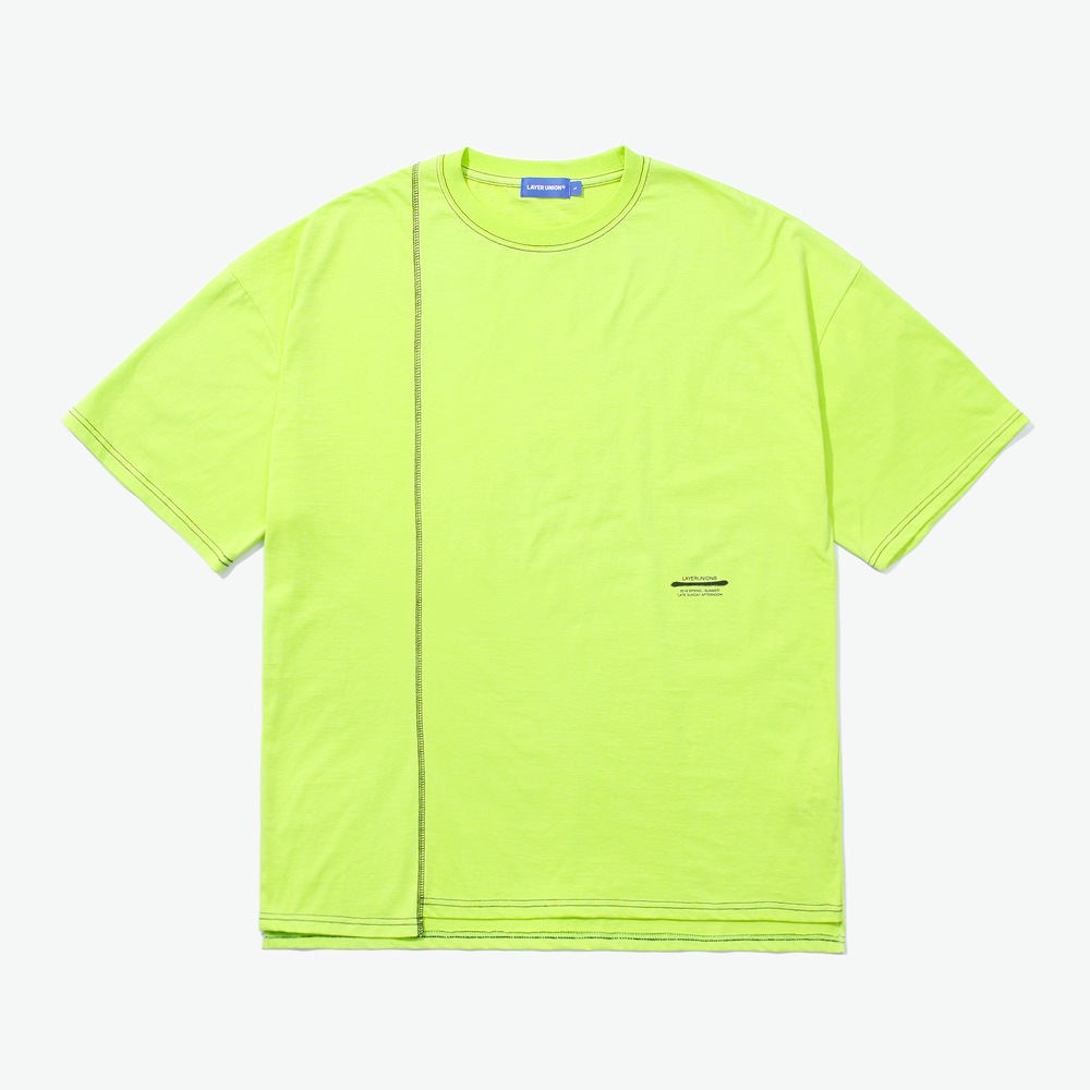 CUT CTRS ST OVER S/S TEE YELLO