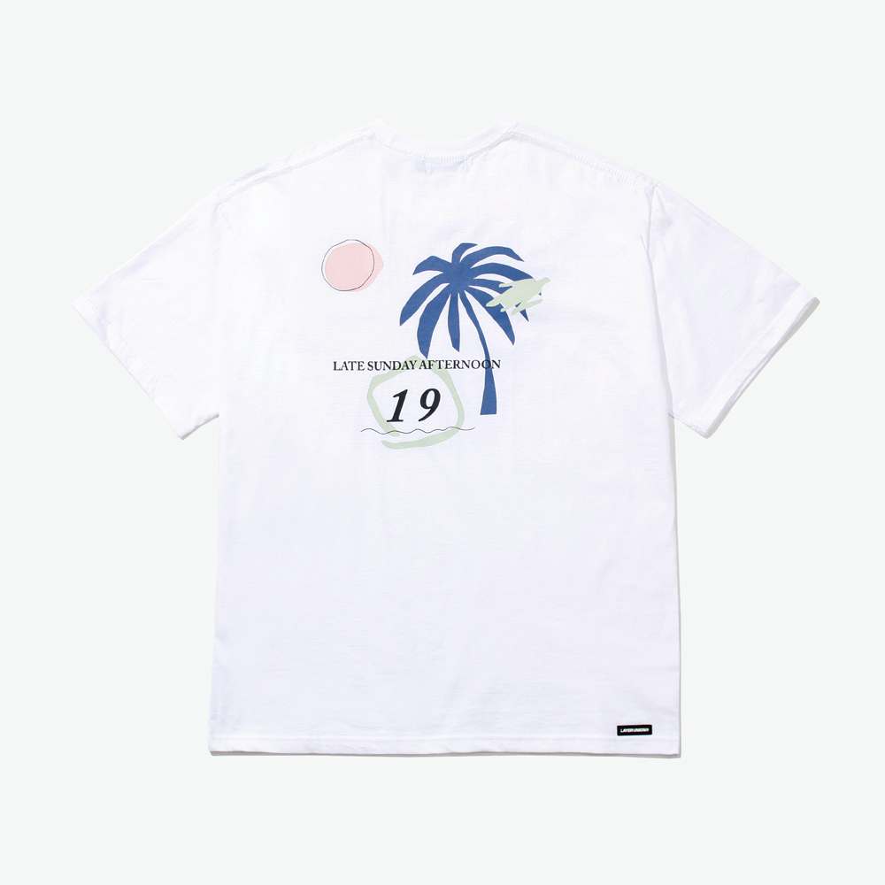 LSA PALM TREE S/S TEE WHITE