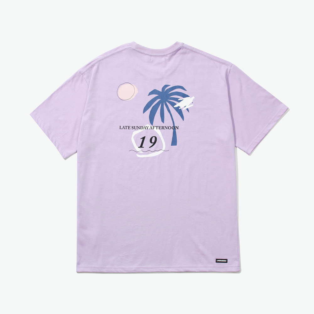 LSA PALM TREE S/S TEE LIGHT PU