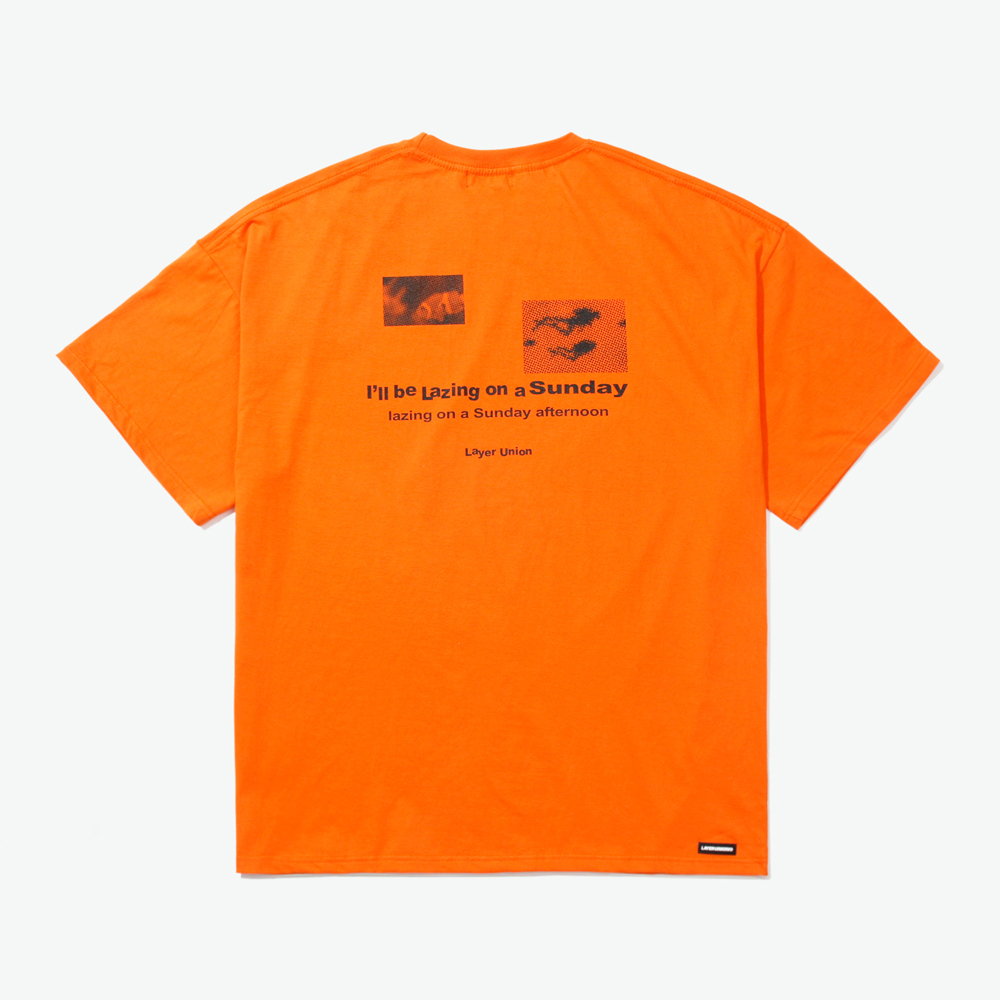 LSA OCEAN OVER S/S TEE ORANGE