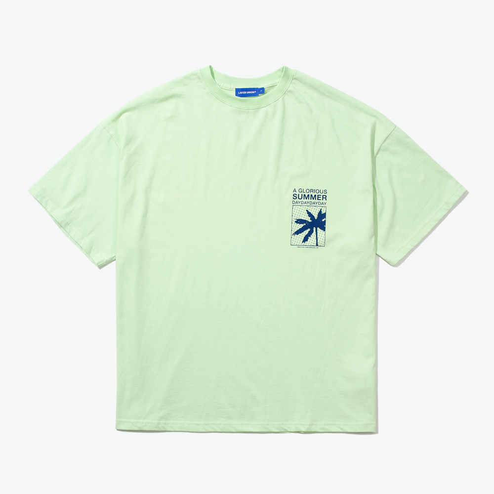 BOXED PALM TREE OVER S/S TEE L