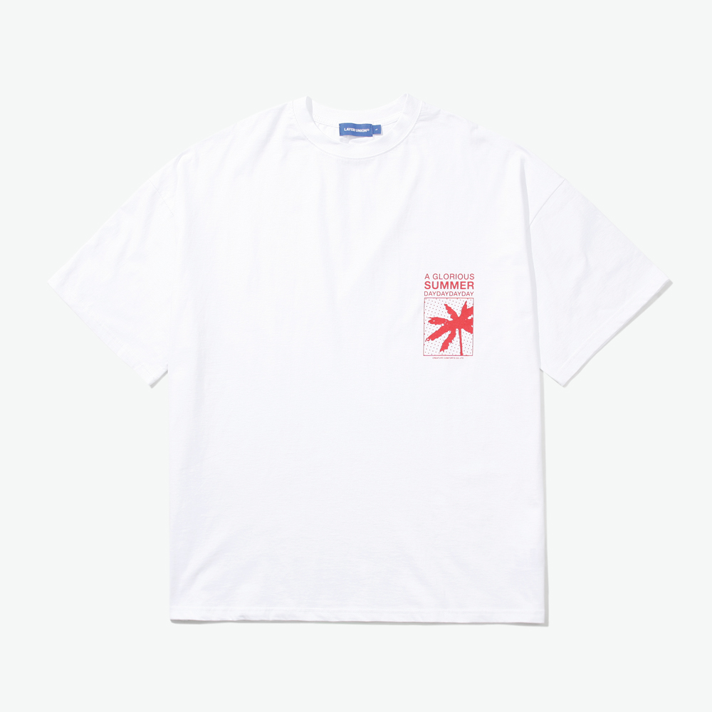 BOXED PALM TREE OVER S/S TEE W