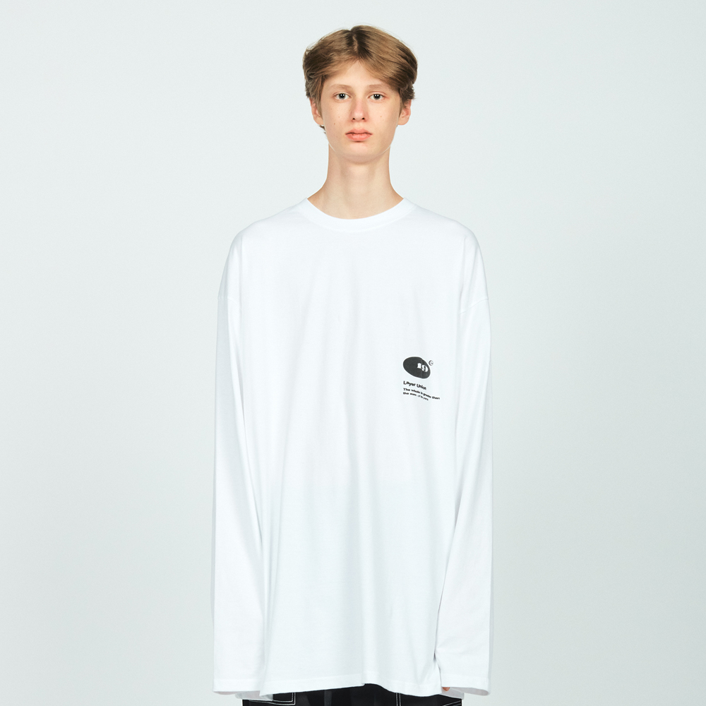 CIRCLE LOGO OVER L/S TEE WHITE