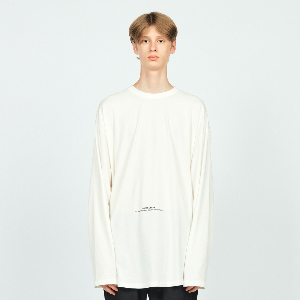 LAYERED OVER L/S TEE WHITE