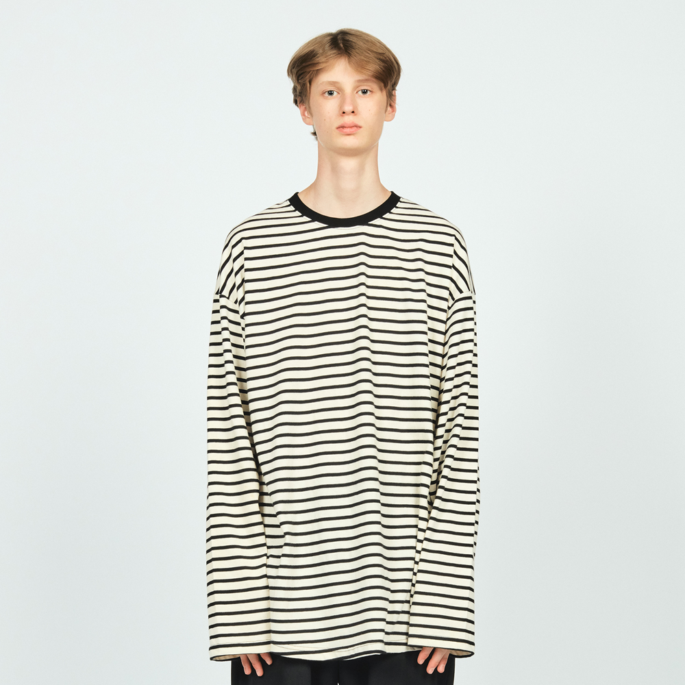 STRIPE LAYERED OVER L/S TEE BL