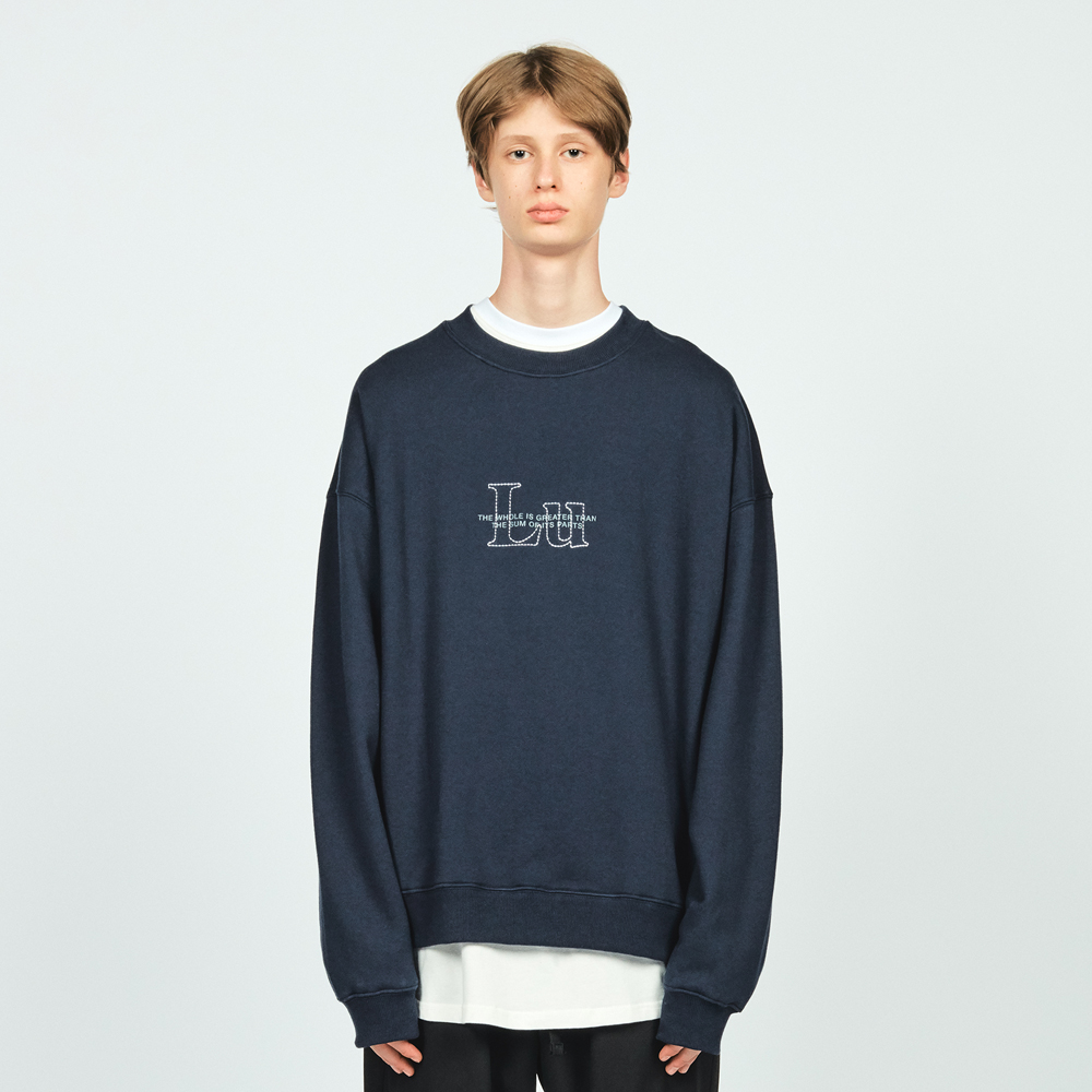 STITCH LU OVER SWEATSHIR NAVY