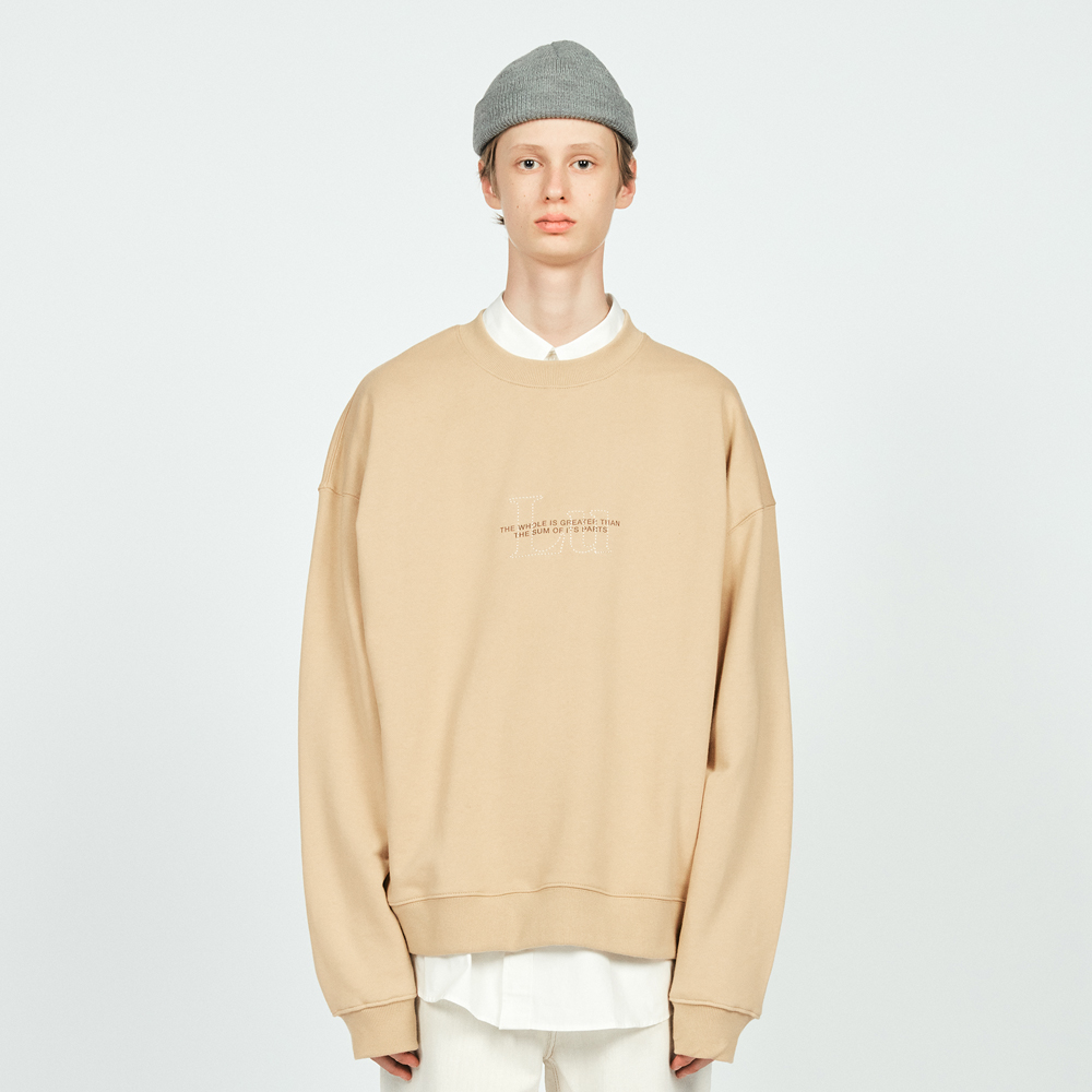 STITCH LU OVER SWEATSHIR BEIGE
