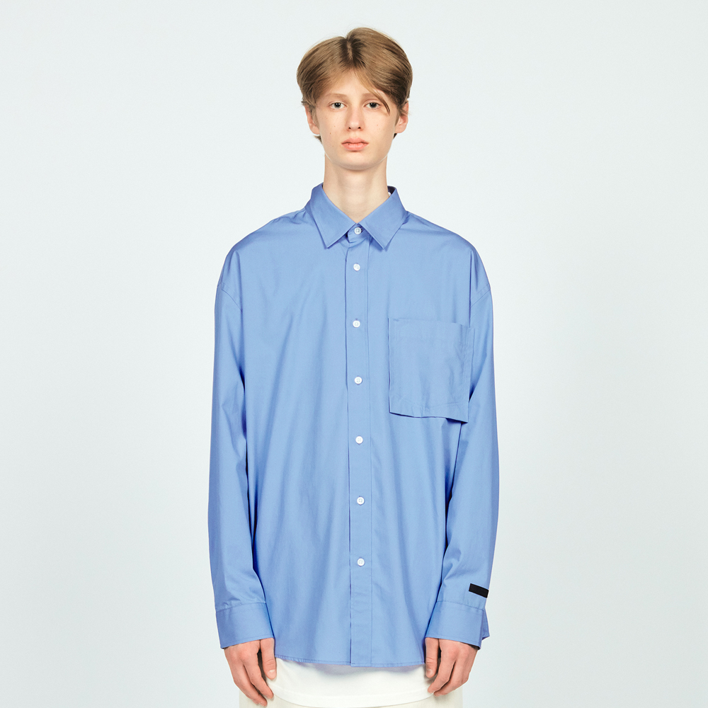COTTON L/S POCKET SHIRTS LIGHT