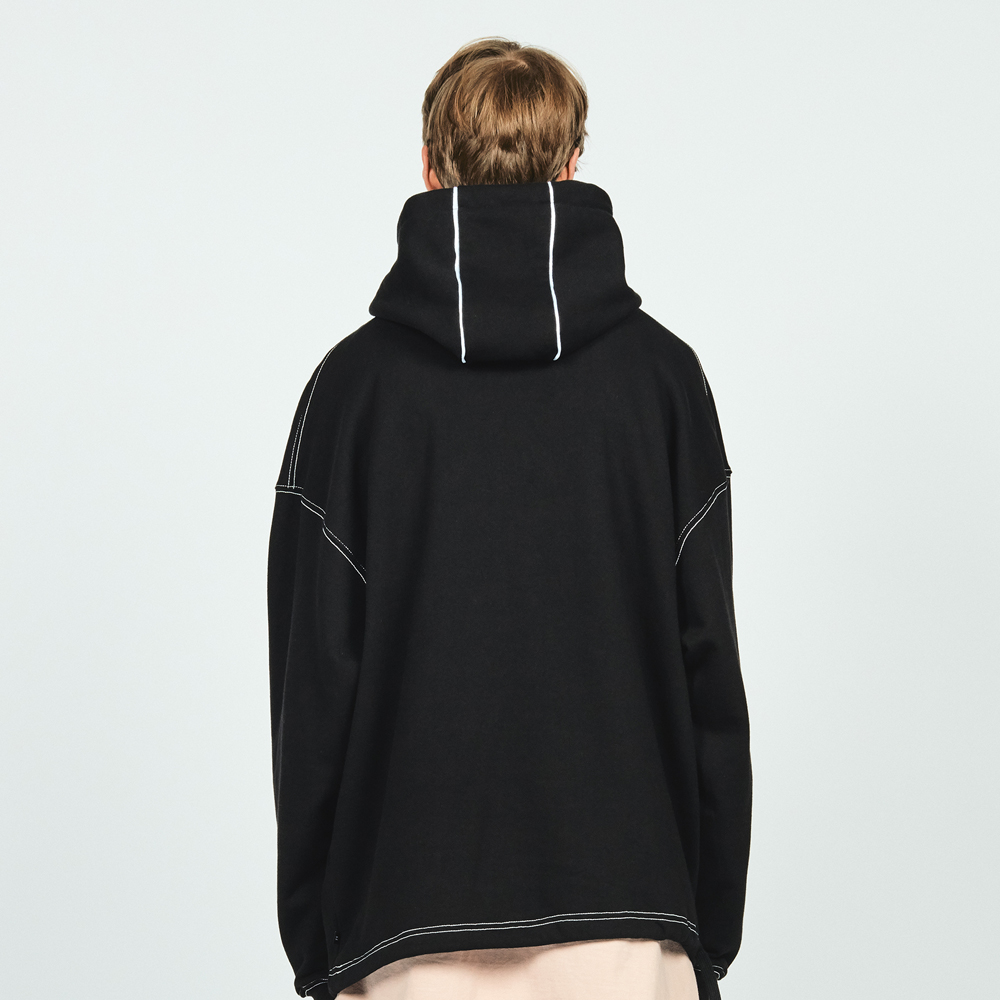CTRS ST PIPING OVER HOODIE BLA