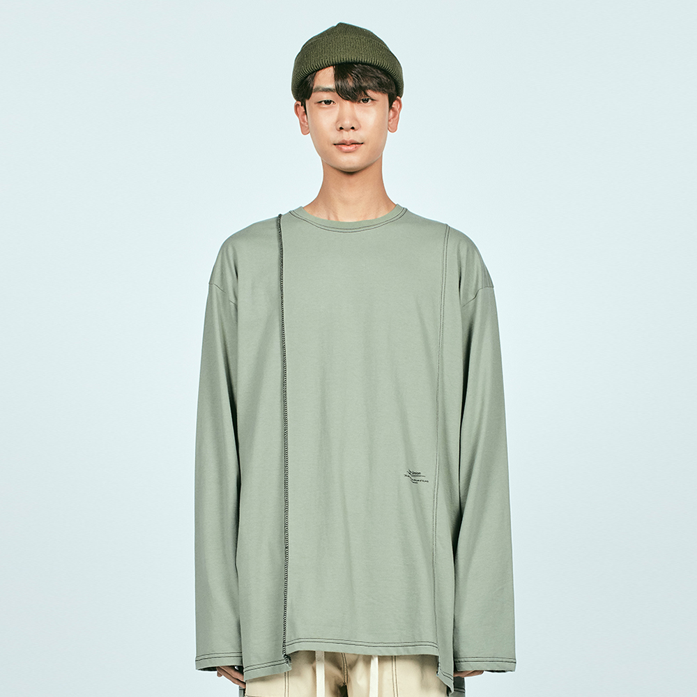 CUT CTRS ST OVER L/S TEE LIGHT