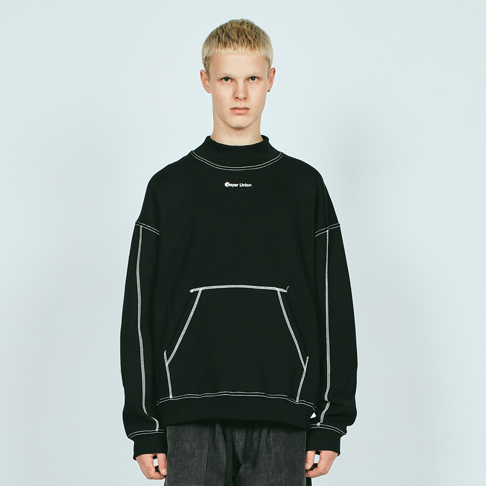 ST MOCK NECK OVER SWEATSHIRT F