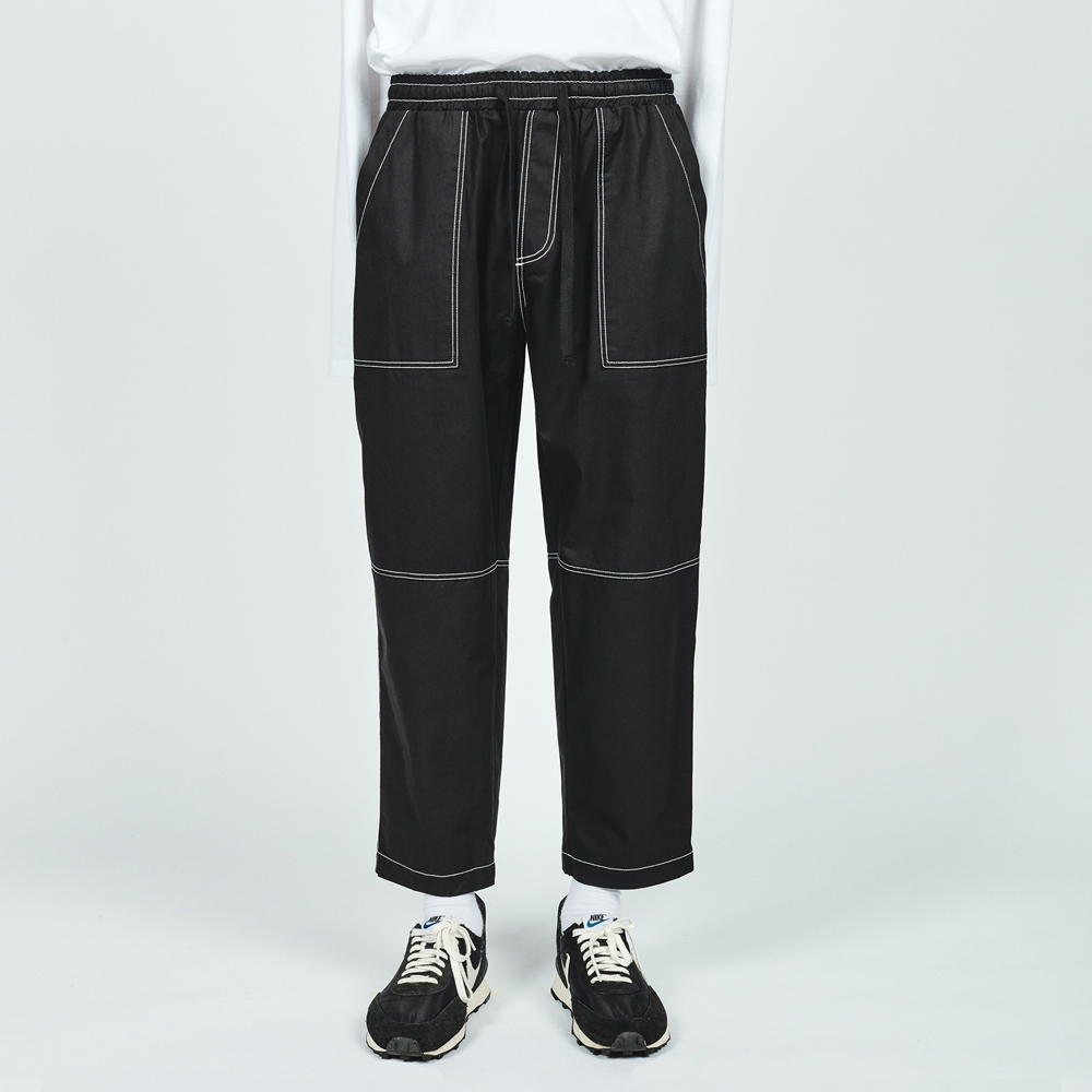CTRS ST CROPPED BAND PANTS BLA