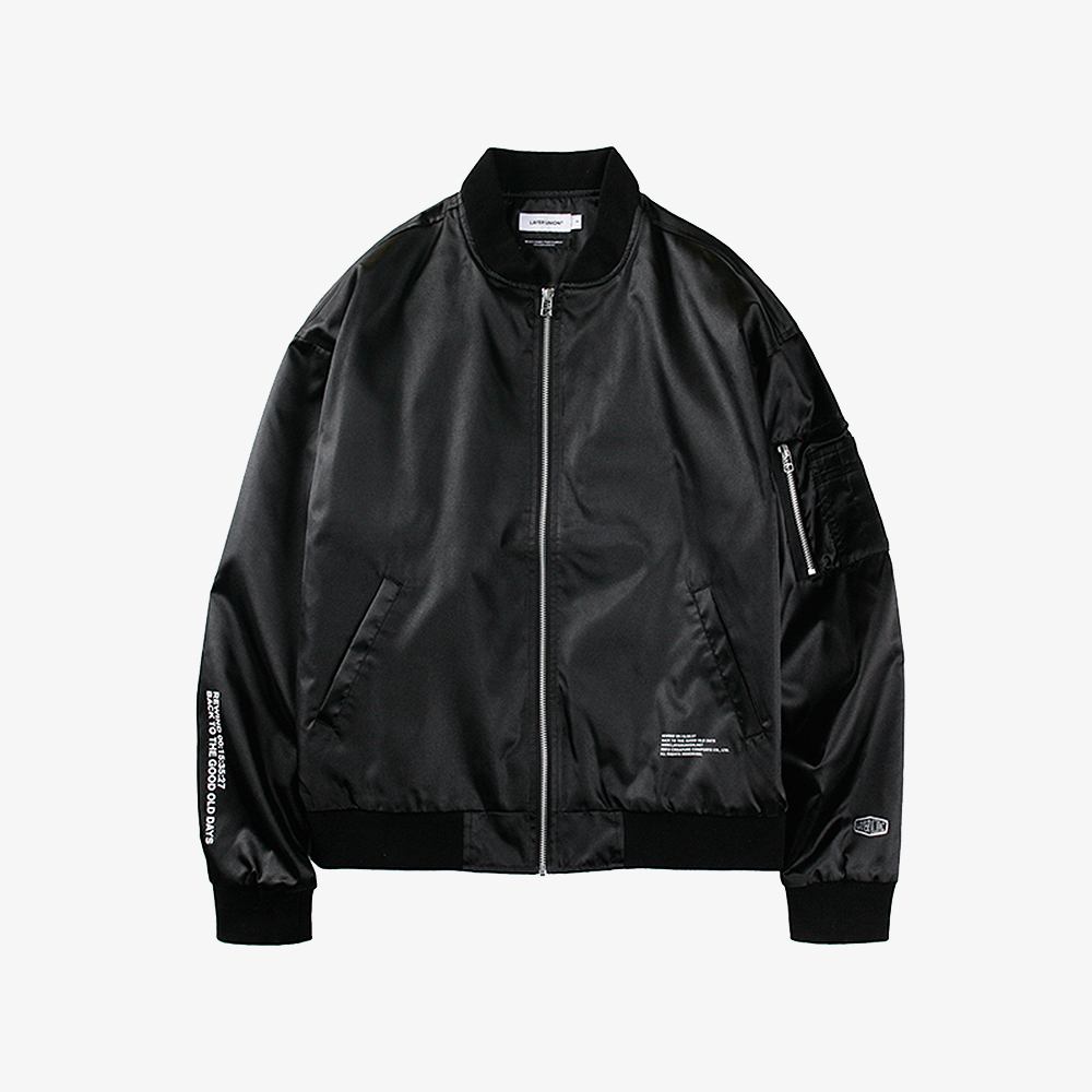 REWIND LIGHT MA-1 JACKET BLACK