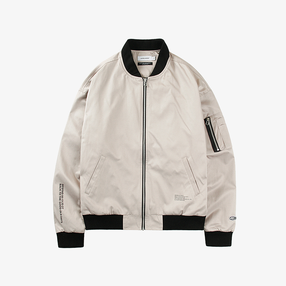 REWIND LIGHT MA-1 JACKET BEIGE