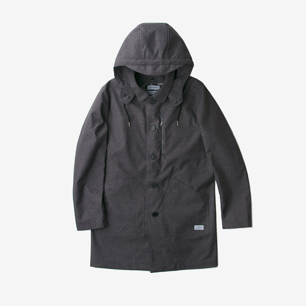 3-WAY MAC COAT CHARCOAL