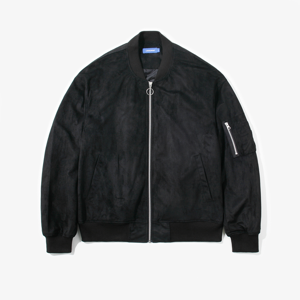 SUEDE MA-1 JACKET BLACK