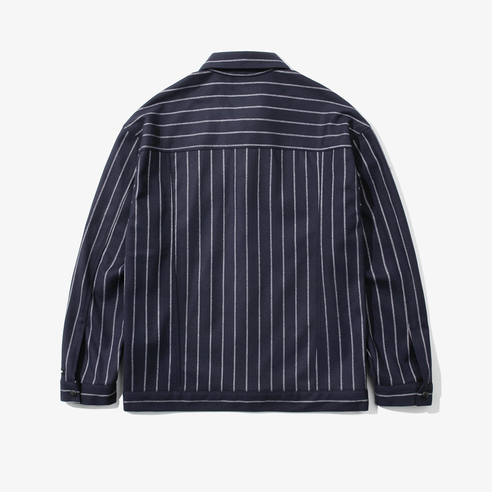 SNAP STRIPE TRUCKER JACKET NAV