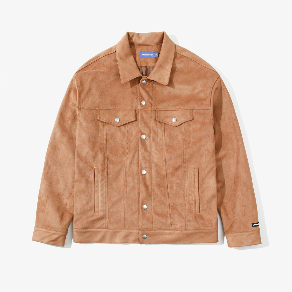 SNAP SUEDE TRUCKER JACKET LIGH