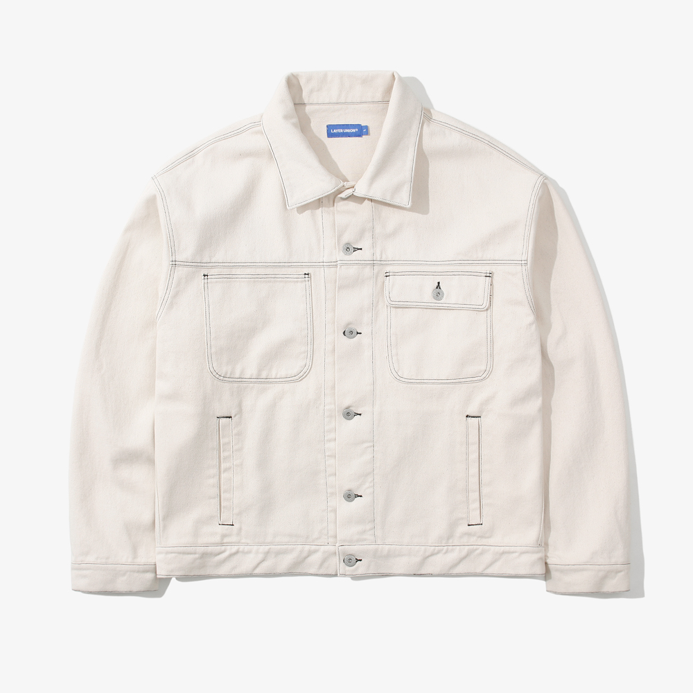 ST OVER TRUCKER JACKET IVORY