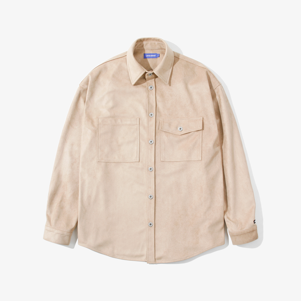 SUEDE OVER SHIRTS BEIGE