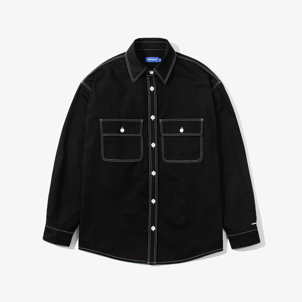 CONTRAST ST OVER SHIRTS BLACK