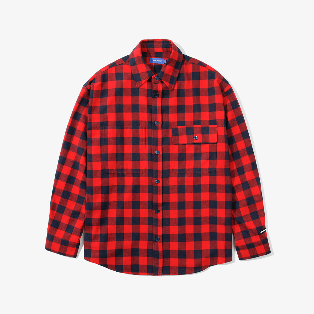 BUFFALO CHECK OVER SHIRTS RED