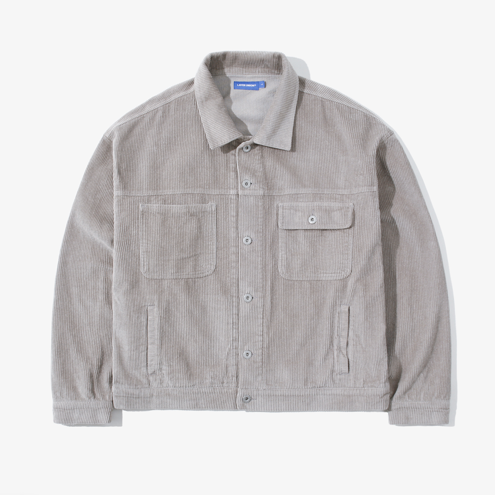 CORDUROY OVER TRUCKER JACKET L