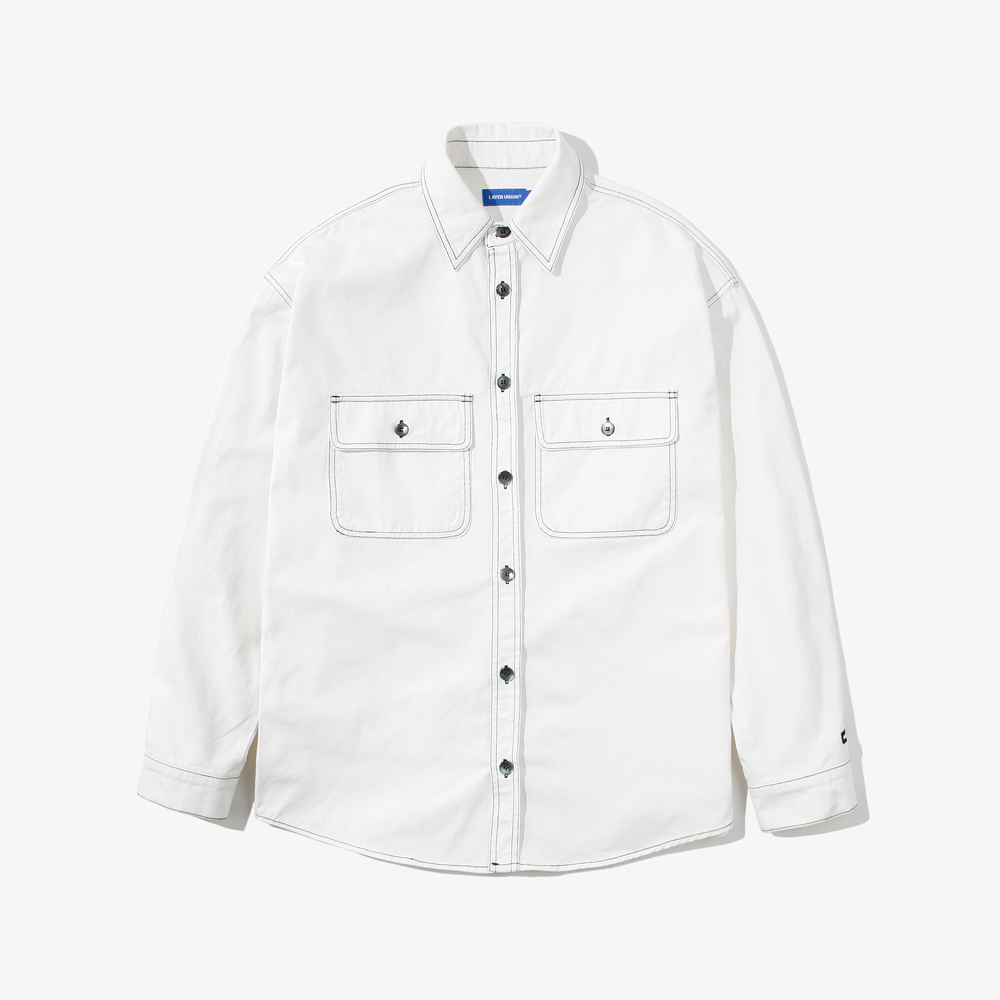 CONTRAST ST OVER SHIRTS IVORY