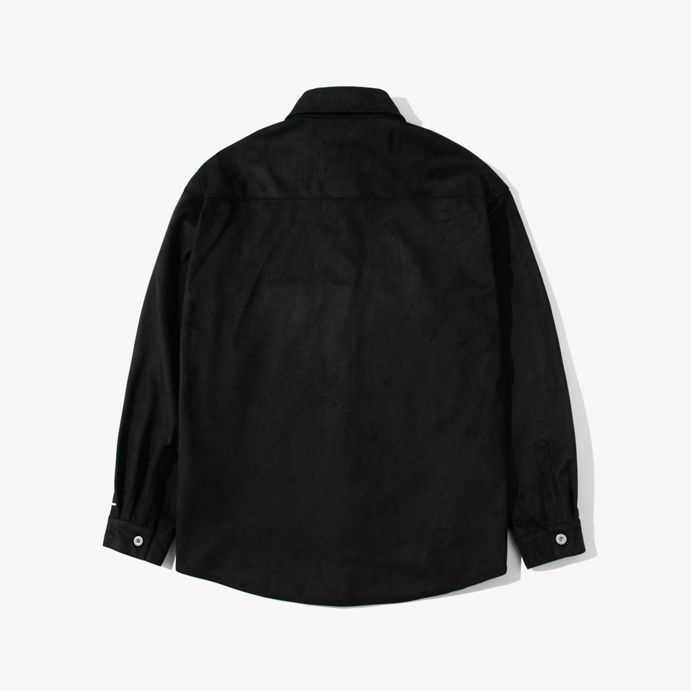 SUEDE OVER SHIRTS BLACK