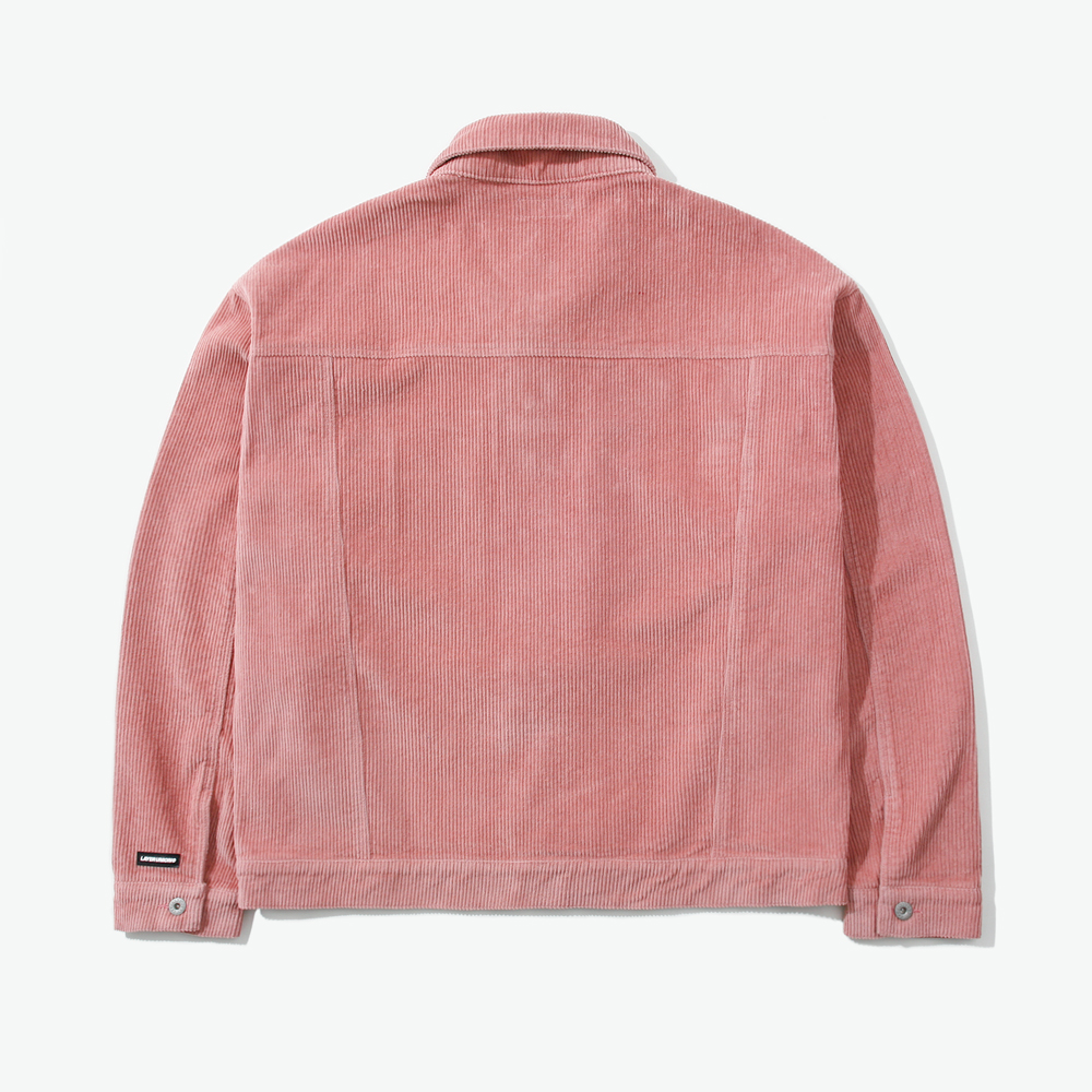 CORD OVER TRUCKER JACKET PINK