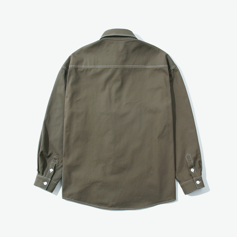 CUT CTRS ST OVER SHIRTS KHAKI