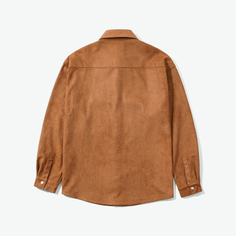 SNAP SUEDE OVER SHIRTS CAMEL