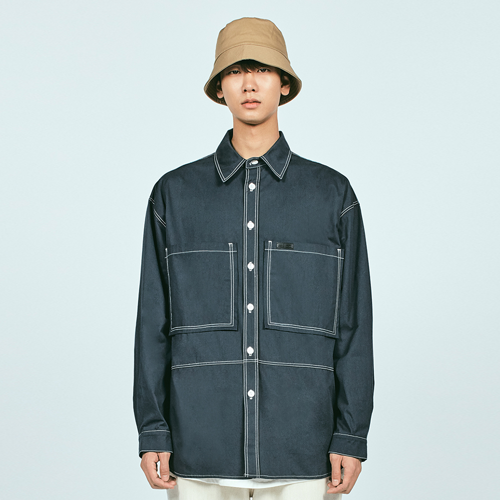 CTRS ST POCKET OVER SHIRTS NAV