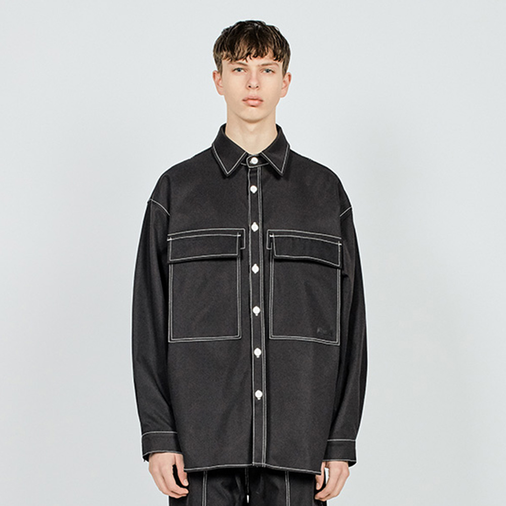 CTRS ST L POCKET OVER SHIRTS B